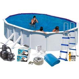 Pool Basic 7,3 x 3,75 x 1,2 M, hvid