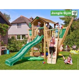 Jungle Gym Cottage komplet legetårn inkl klatrevæg