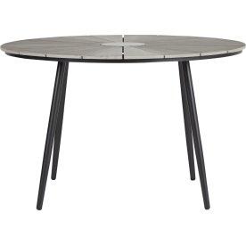 Daniel havebord Ø120xH75 cm sort/grå