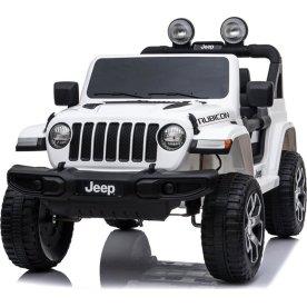 El-drevet Jeep Wrangler Rubicon børnebil, hvid