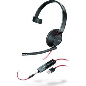 Poly Blackwire 5210 USB-A mono headset, sort