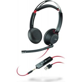 Poly Blackwire 5220 USB-A stereo headset, sort