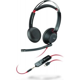 Poly Blackwire 5220 USB-C stereo headset, sort
