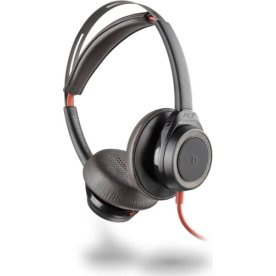 Poly Blackwire 7225 USB-C stereo headset, sort