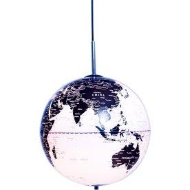 Globe The World Pendel, Ø30, hvid/sort