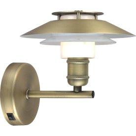 1123 Væglampe, Ø18, antik/opal