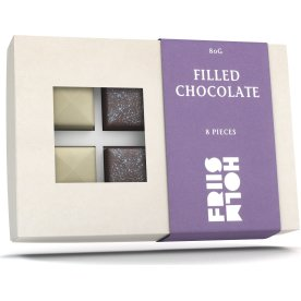 Friis-Holm filled chocolate 8 pieces, 80g