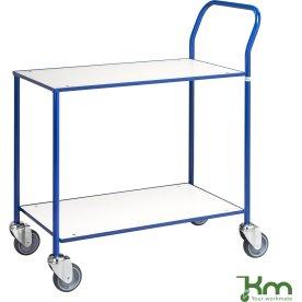Rullebord - 2 hylder, 840x430x970, Blå/Hvid