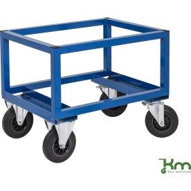Palletransportvogn Høj, Halvpalle, Blå