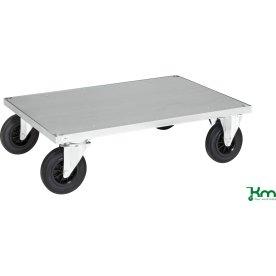 Flexi 630 enkelt vogn, 120x80x26, Stålplade