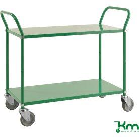 Rullebord 2 hylder, 1070x450x940, 250 kg, Grøn