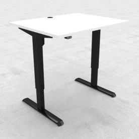 Compact hæve/sænkebord, 100x80 cm, Hvid/sort