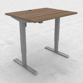 Compact hæve/sænkebord, 100x80 cm, Valnød/alu