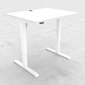Compact hæve/sænkebord, 100x80 cm, Hvid/hvid
