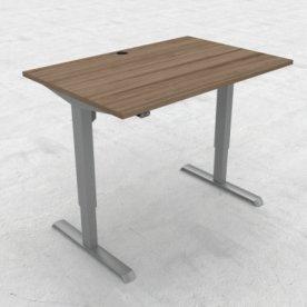 Compact hæve/sænkebord, 120x80 cm, Valnød/alu