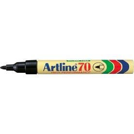 Artline EK70 marker, sort