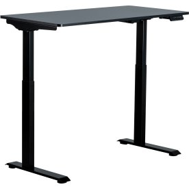 Small hæve/sænkebord, 120x60 cm, Sort
