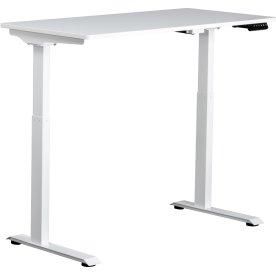 Small hæve/sænkebord, 120x60 cm, Hvid