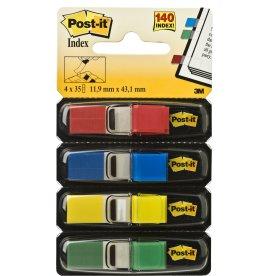Post-it Indexfane, (4 farver) i smalt format