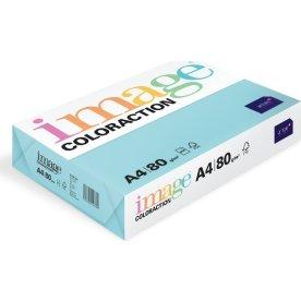 Image Coloraction A4, 80g, 500ark, laguneblå