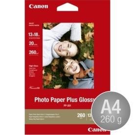 Canon PP-201 blank inkjetfoto, A4/260g/20ark