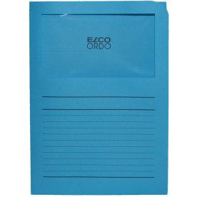 Elco Ordo papiromslag m. rude, blå/ 100 stk