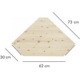 ABC dyb hjørnehylde, 30 cm, natur