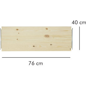 ABC hylde LxD: 76x40 cm, natur