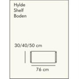 ABC hylde LxD: 76x40 cm, hvidlaseret