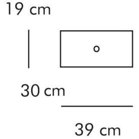 ABC Skuffe, smal 39x30 cm, hvidlaseret