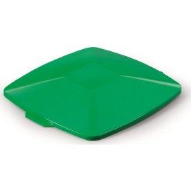 Fladt låg affaldsspand 40 l, Grøn