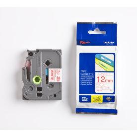 Brother TZe-232 labeltape 12mm, rød på hvid