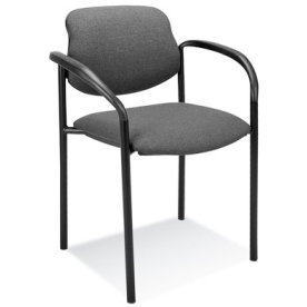 Daniel konferencestol med armlæn, grå