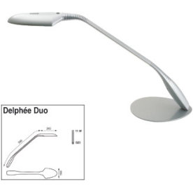 Delphée Duo lampe med bordfod, sort