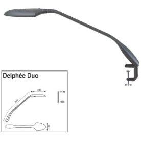 Delphée Duo lampe med skruetvinge, sort