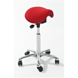 CL Dalton sadelstol, rød, stof, 58-77 cm