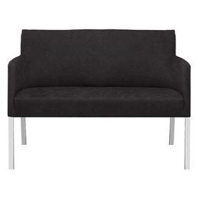 Florence sofa 2 pers. sort læder