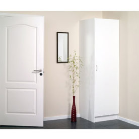 Garderobeskab inkl låge, hvid
