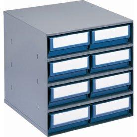 Lagermagasin inkl 8 x systemkas 4 (400x183x81),blå