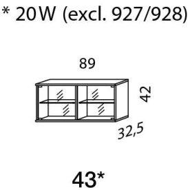 Mistral sektion 043 Glasskab Light bøg