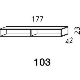 Mistral sektion 103 Lowboard Light bøg