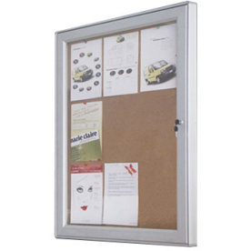 Infobox, korkplade med lås, 59x108, alu ramme