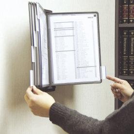 Infocenter til vægmontering med 10 lommer