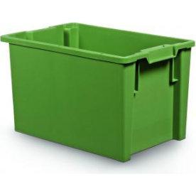 Arca stabelkasse 66 liter, 600x400x350, Grøn