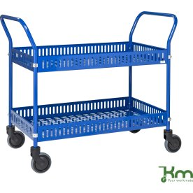 Butiks-/Plukkevogn 2 trådkurve, 950x540x1000, blå