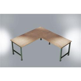 Manuflex tilbygningsbord 125 cm, Grå melamin