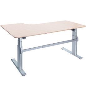 Fly hævesænkebord 180 cm højre ahorn 72-118 cm