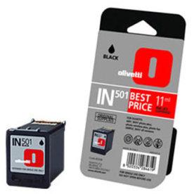 Olivetti in 501/B0508 blækpatron, sort (11 ml)
