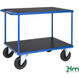 Flexi 330 bordvogn, 100x70x87, Blålakeret stål