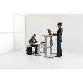 Flexo hævesænkebord 80x160 cm rekt. ahorn